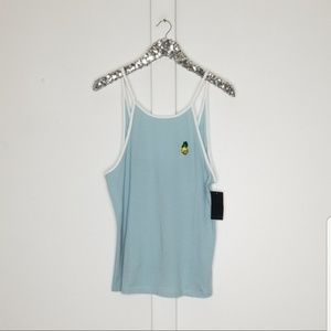 NWT Hurley skull pineapple tank top size large